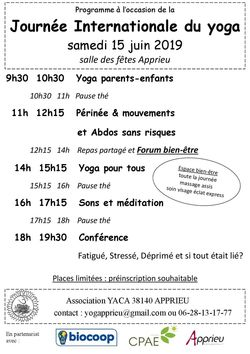 JOURNEE INTERNATIONALE DU YOGA